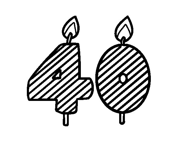40 years old coloring page - Coloringcrew.com