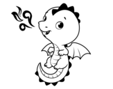 A baby dragon coloring page