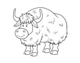 A buffalo coloring page