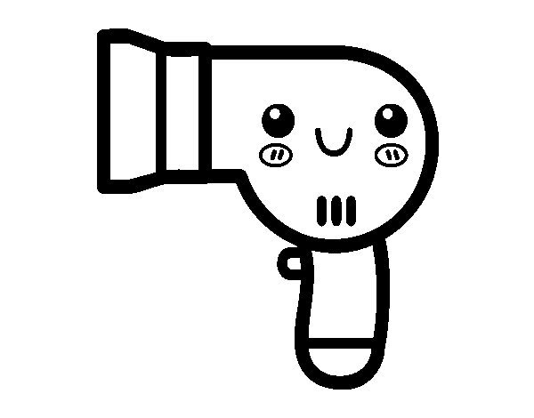 hair dryer coloring pages - photo #5