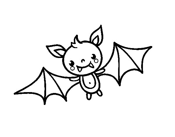 a halloween bat coloring page - Halloween Bat Coloring Page
