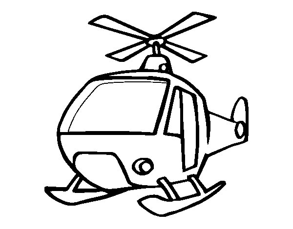 A helicopter coloring page