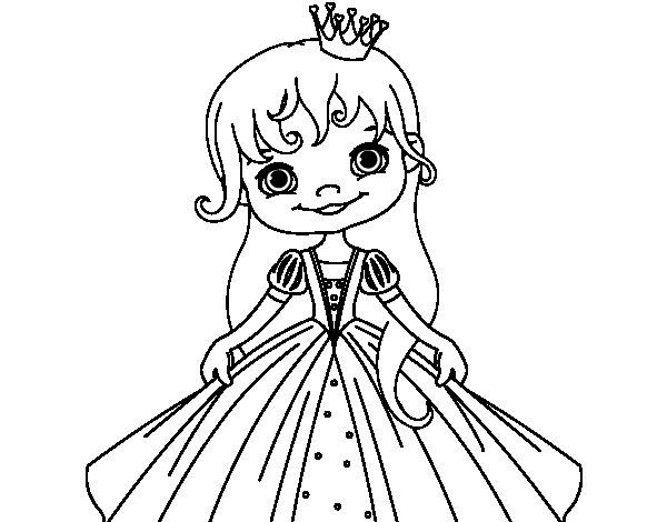 A Little Princess Coloring Page