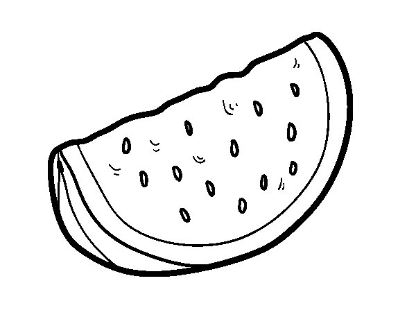 A piece of watermelon coloring page  Coloringcrewcom