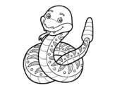 A rattlesnake coloring page