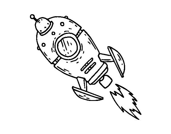 A Space Rocket coloring page