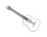 A Spanish guitar coloring page