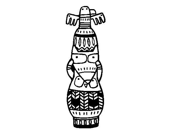 A totem coloring page