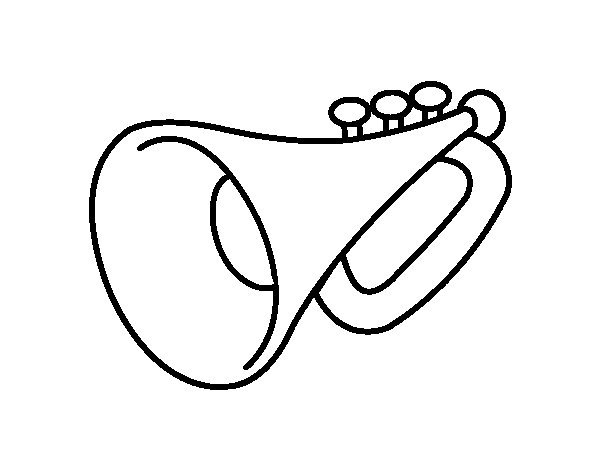 a trumpet coloring page