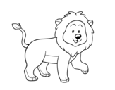 Dibujo de Adult lion