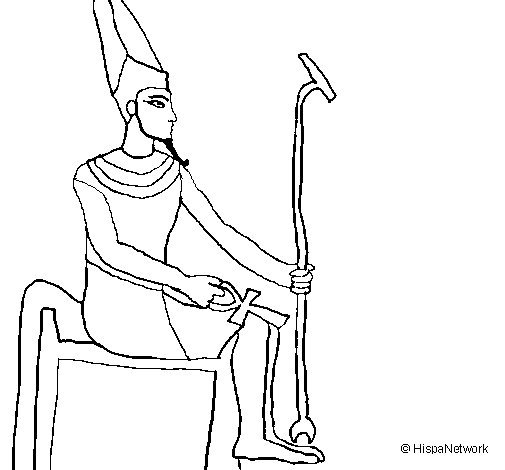 Amun coloring page