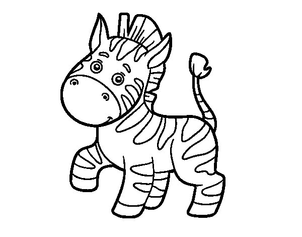 An African zebra coloring page
