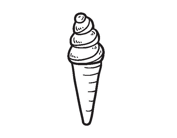 An ice cream cone coloring page