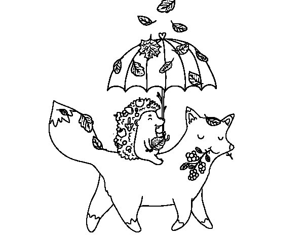 coloring pages fall animals images - photo#21