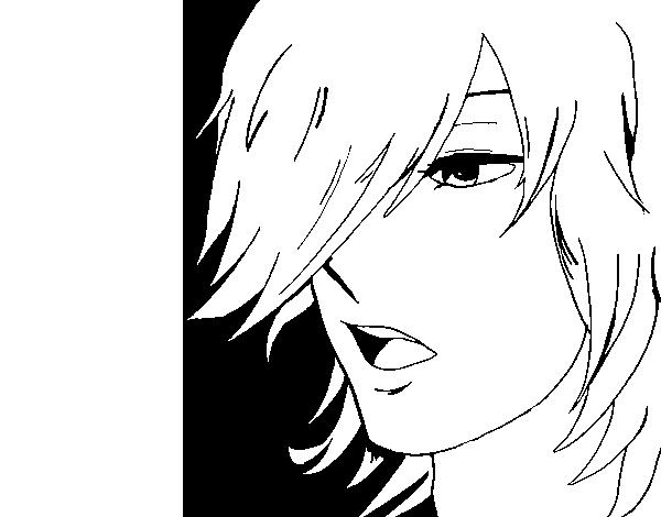 Anime boy coloring page - Coloringcrew.com