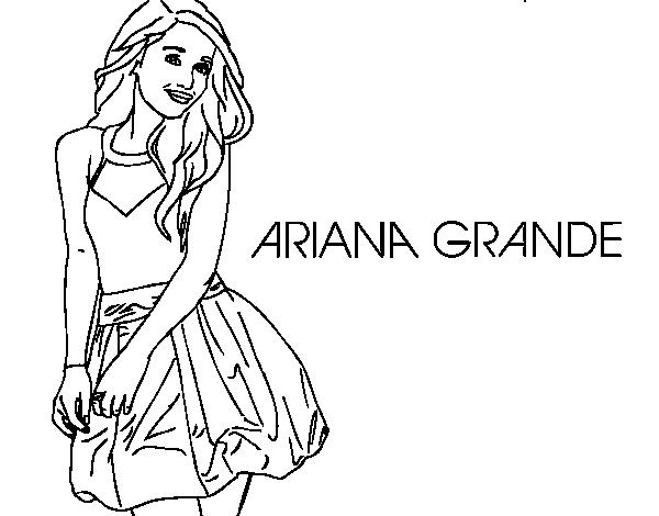 Ariana Grande coloring page Coloringcrewcom