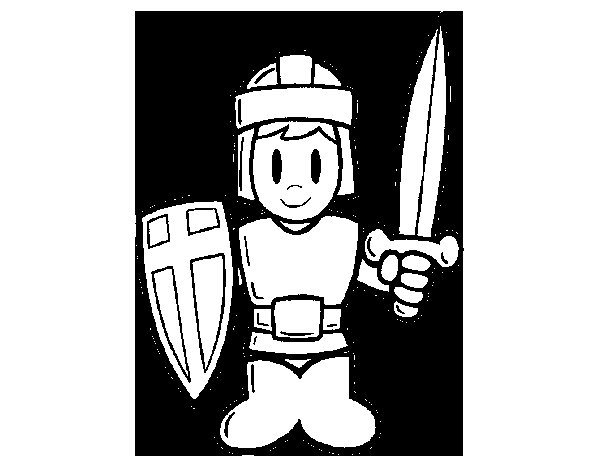 Armour coloring page