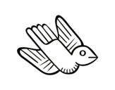 Aztec bird coloring page