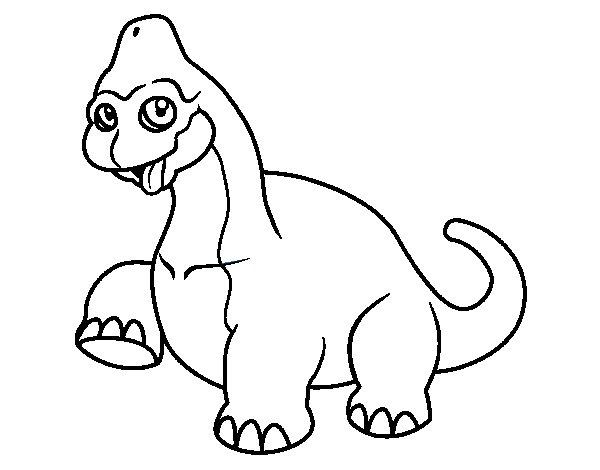 Baby brachiosaurus coloring page Coloringcrewcom