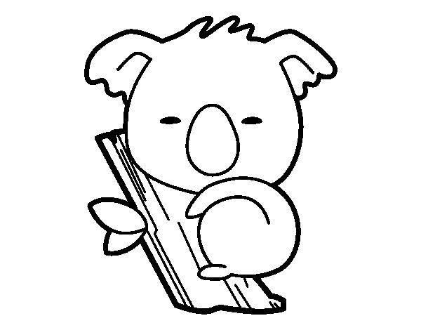 Baby Koala coloring page