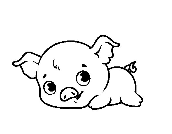 Baby piggy coloring page