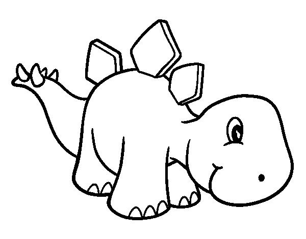 Baby stegosaurus coloring page Coloringcrewcom