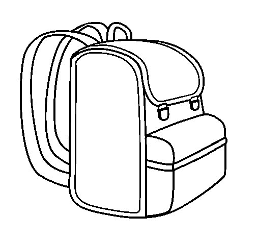 Backpack coloring page Coloringcrewcom