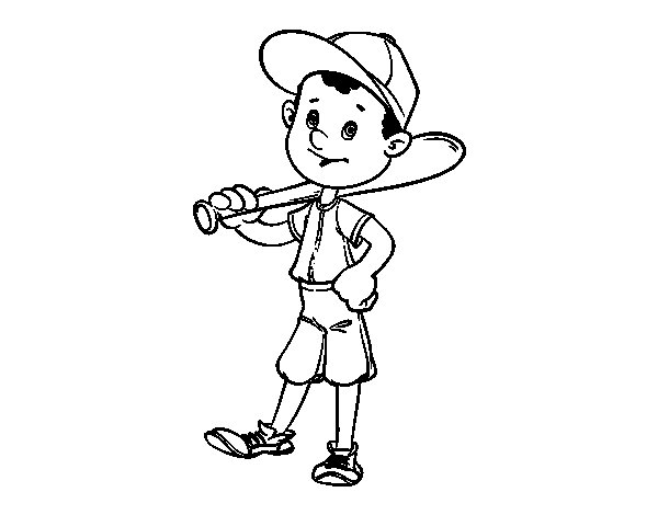 Baseball batter coloring page