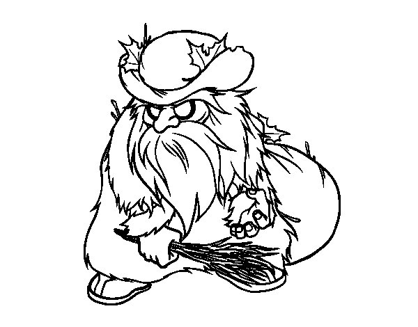 Belsnickel coloring page