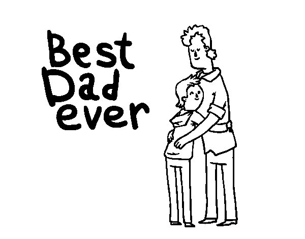 Best dad ever coloring page