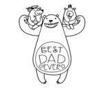 Best daddy in the world coloring page