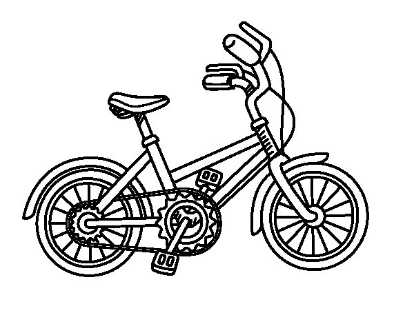 Bicycle for children coloring page