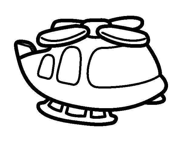 Big helicopter coloring page
