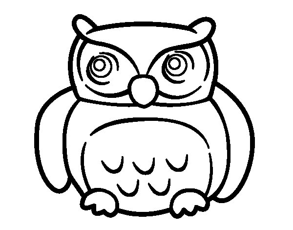 Big Owl coloring page - Coloringcrew.com