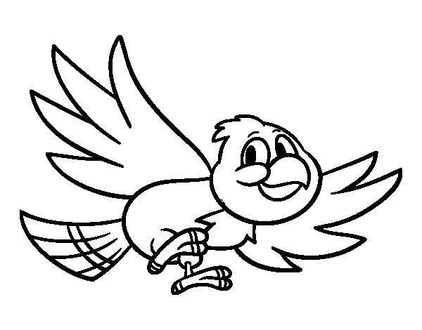 Bird flying coloring page - Coloringcrew.com