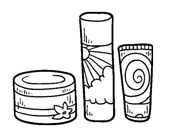 Body creams coloring page