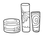 Body creams coloring page