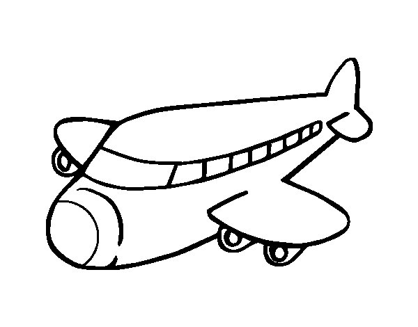 Boeing plane coloring page