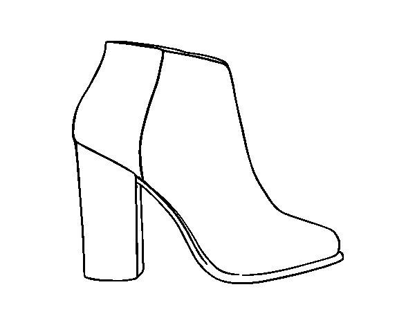 Bootie Heel coloring page