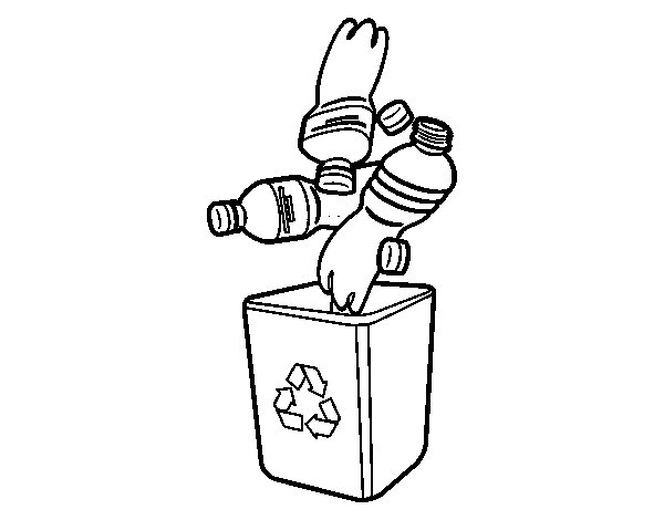 Bottles Recycling coloring page