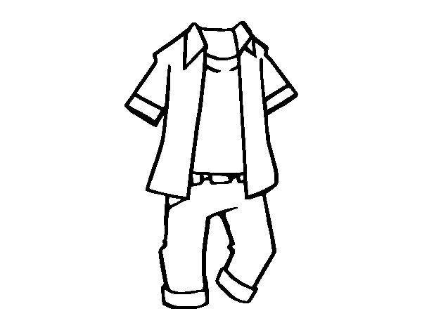 Boys Clothing Coloring Page