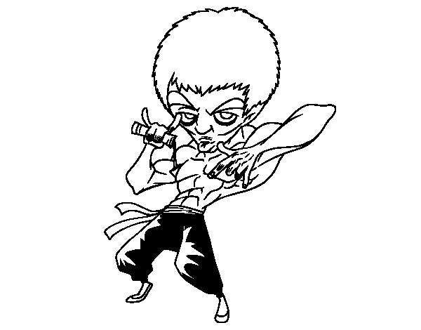 Bruce Lee coloring page