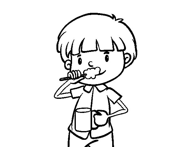 Brushing Teeth Coloring Sheet Coloring Pages Brushing Teeth Coloring Page