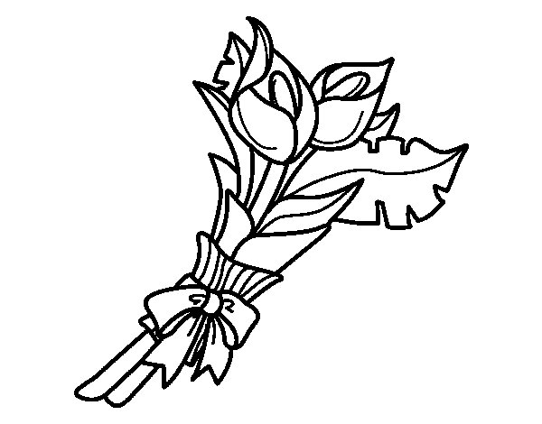 Bunch of calla lily coloring page