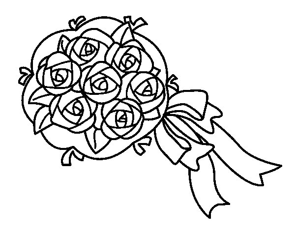 Bunch of gardenia coloring page