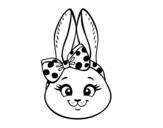Dibujo de Bunny girl face