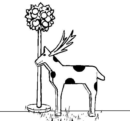 Cardboard cow coloring page