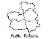 Castilla - La Mancha coloring page