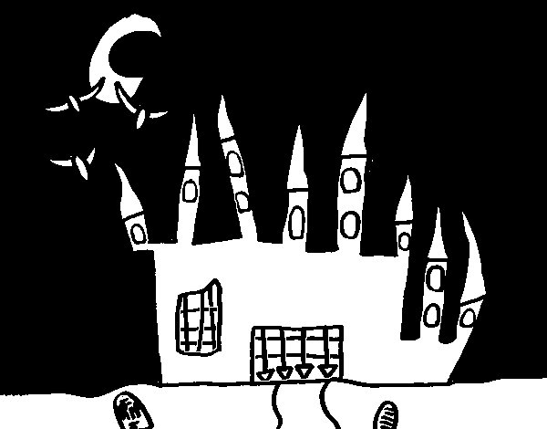 Castle of terror coloring page