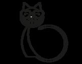 Dibujo de Cat love